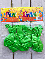 Воздушные шары зелёные (10 шт.)