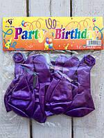Воздушные шарики 10 шт Фиолетовые Balloons