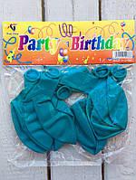 Воздушные шарики 10 шт Бирюзовые Balloons