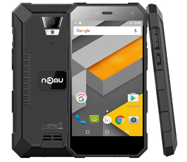 "Смартфон NOMU S10 Pro Black, 3/32Gb, 8/5Мп, 4 ядра, 2sim, экран 5"" IPS, 5000mAh, IP68, GPS, 4G, Android 7.0"