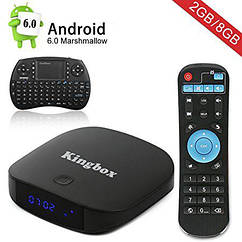 "Android TV Box Kingbox K1 Plus Android 6.0/4K/S905X/64Bit/1Gb RAM/8Gb ROM ""Over-Stock"""
