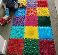 Ортопедический коврик пазл Орто пазл для детей и взрослых набор Массажный  из 15 пазлов