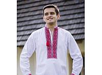 Мужская вышитая сорочка на домотканном лене., фото 1