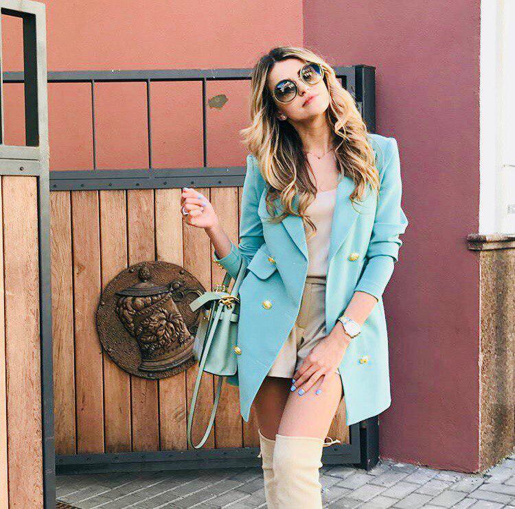 """Удлиненный женский пиджак """"Jenna"""" с карманами и длинным рукавом (3 цвета)"""