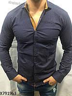 """Мужская рубашка (44-52) """"Rossi"""" купить оптом со склада  ZR-4473"""
