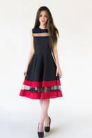 XS, M, L / Вечернее габардиновое платье Elis, черный