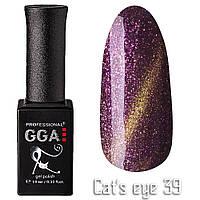 Гель-лак GGA Professional Кошачий глаз №39