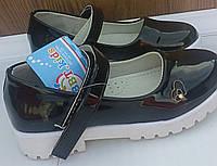 Туфли для девочки черные лак 16 и 16,5см