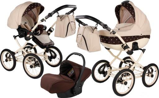 Многофункциональная детская коляска MERIVA RETRO 3в1