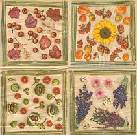 Декупажная салфетка Травы, ягоды, цветы 7381