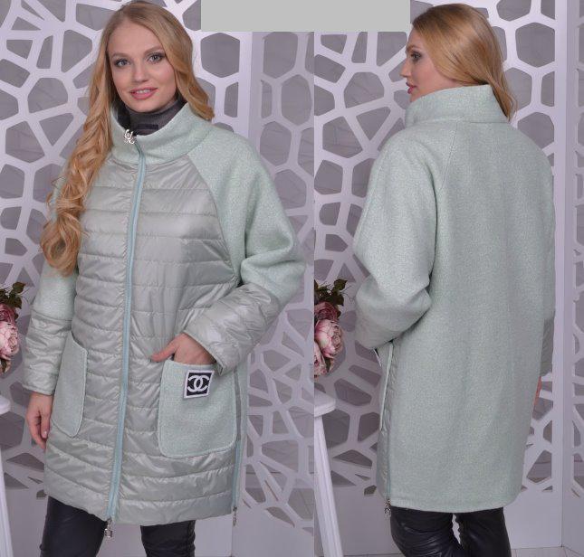 ffd8d7493dc9 Демисезонное пальто комбинированное, с 48-56 размер: продажа, цена в  Запорожье. ...