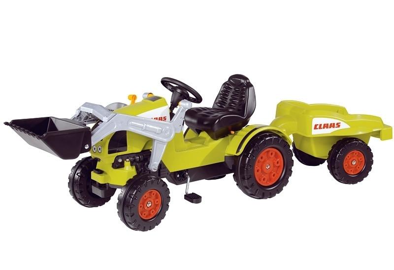 Трактор с ковшом педальный с прицепом 0056553 BIG