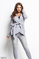 Женское пальто 16313 серый