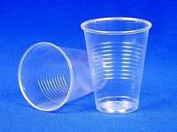 Стаканы прозрачные пластиковые одноразовые 180 мл-уп.100 шт