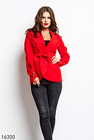 Женское пальто 16300 красный