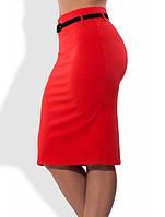 53984d80723 Красная юбка карандаш с поясом в комплекте 1270