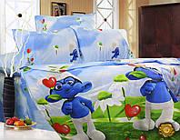 Полуторный постельный комплект (Ранфорс) Р-0004