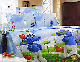 Детский комплект постельного белья 145х220 ранфорс (Р0004)