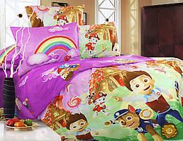 Детский комплект постельного белья 145х220 ранфорс (Р0006)