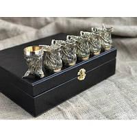 Набор бронзовых чарок Олени 6шт, фото 1