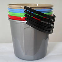 Ведро пластиковое без крышки 5 литров VM05