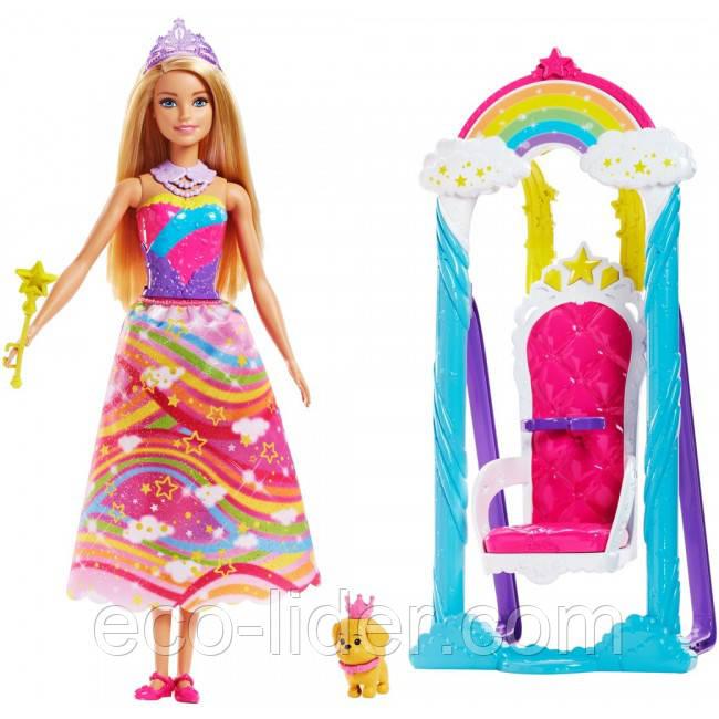 """Набор с куклой Barbie """"Радужные качели"""""""