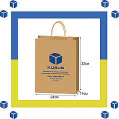 Печать на бумажных пакетах (1+0_100шт.)