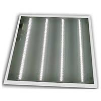 LED светильник накл. 600х600мм ЕВРОСВЕТ 36W 4200K призматичный рассеиватель