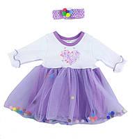 Детское платье для девочки, на рост- 68,74,80,92 см. (арт.9-48н)