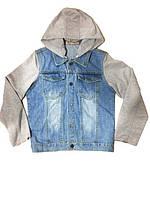 Комбинированная джинсовая куртка для мальчиков из Венгрии 134-164р., фото 1