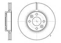 Передние тормозные диски на Рено Логан 2, Логан МСV 2, Сандеро Степвей 2 D=260мм/ REMSA 668310