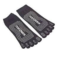 Носки для йоги и танцев с пальцами черные FI-4945-3