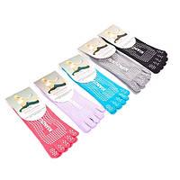 Носки для йоги и танцев с пальцами белые FI-4945-1