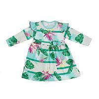 Детское платье для девочки, на рост- 80,92, 104-110 см. (арт.9-43)