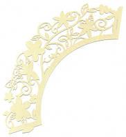 Накладка бумажная декоративная ажурная для маффинов 20 шт., фото 1