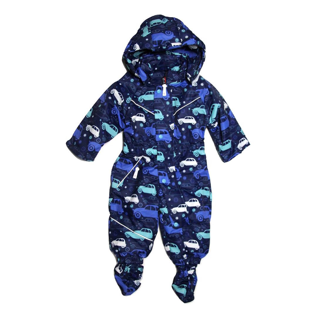 Демисезонный комбинезон мембрана для мальчика от 6 месяцев до 1,5 лет синий