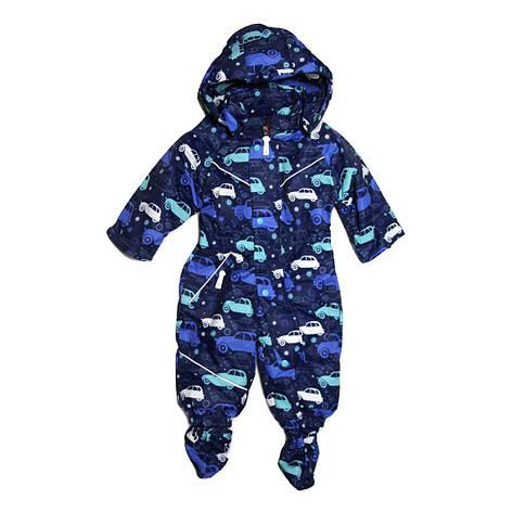 Демисезонный комбинезон мембрана для мальчика от 6 месяцев до 1,5 лет синий, фото 2