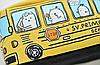 Пенал школьный Автобус желтый, фото 3