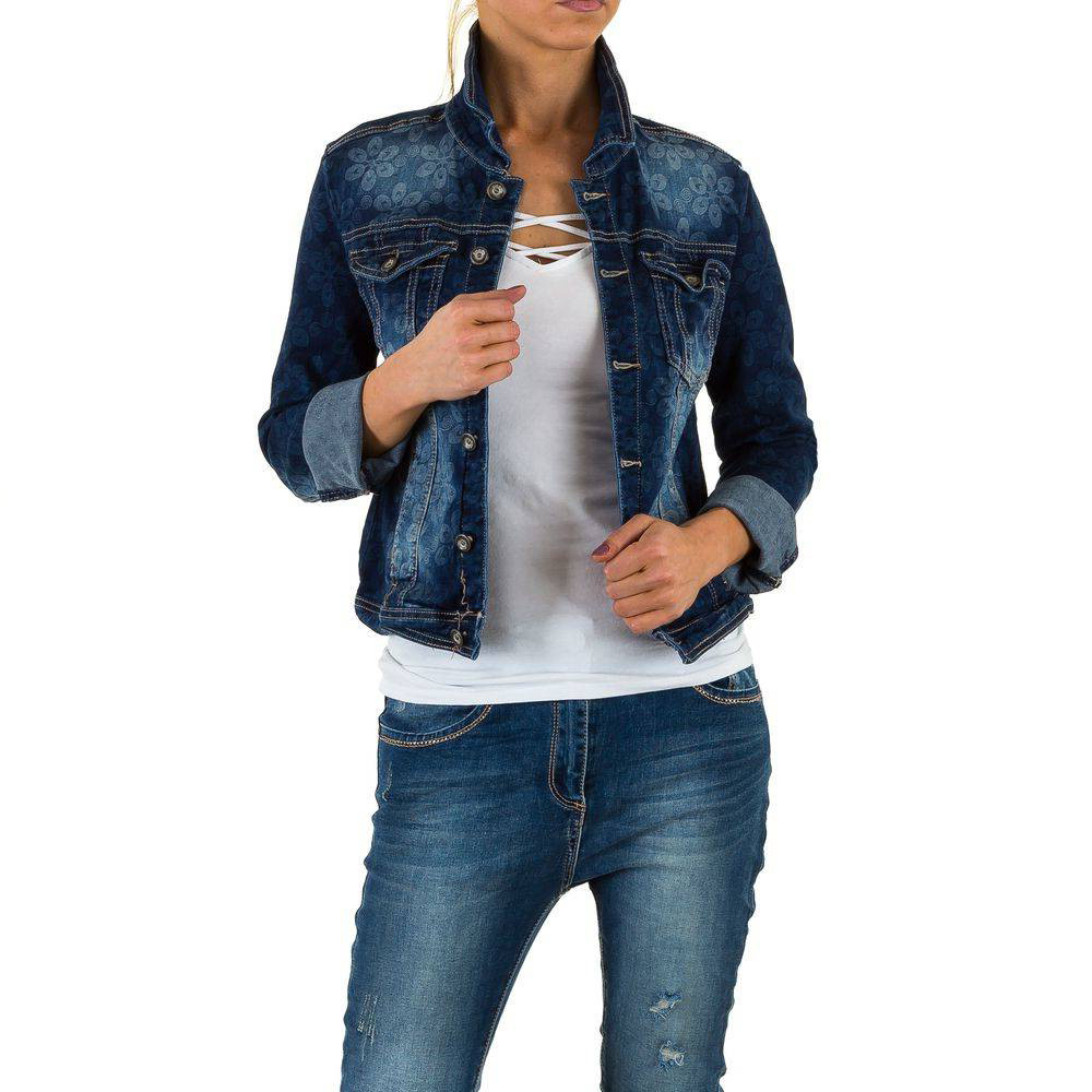 Джинсовая куртка женская с цветочным принтом Mozzaar (Европа) Эксклюзив!!!