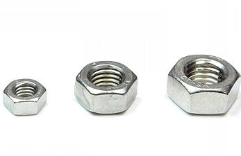 Гайка нержавеющая М1.6 DIN 934 (ГОСТ 5915-70, ГОСТ 5927-70) сталь А2 и А4, фото 2