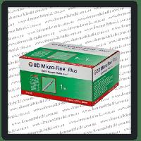 Шприцы инсулиновые BD Micro-Fine Plus U-40 1мл*8мм (100 шт.)
