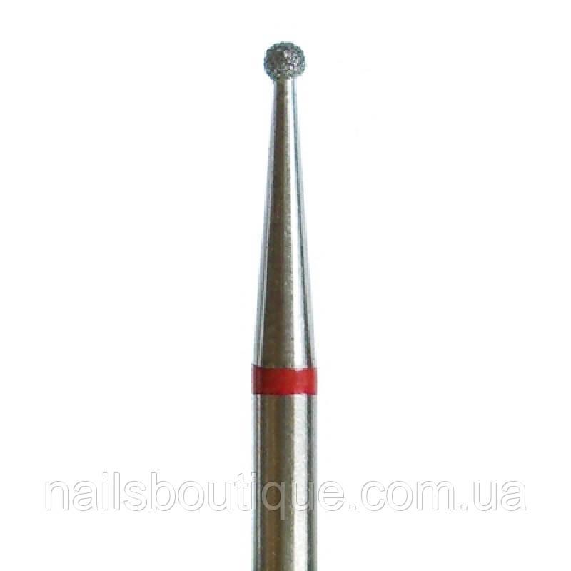 Алмазна фреза куля, 2,5 мм червона насічка