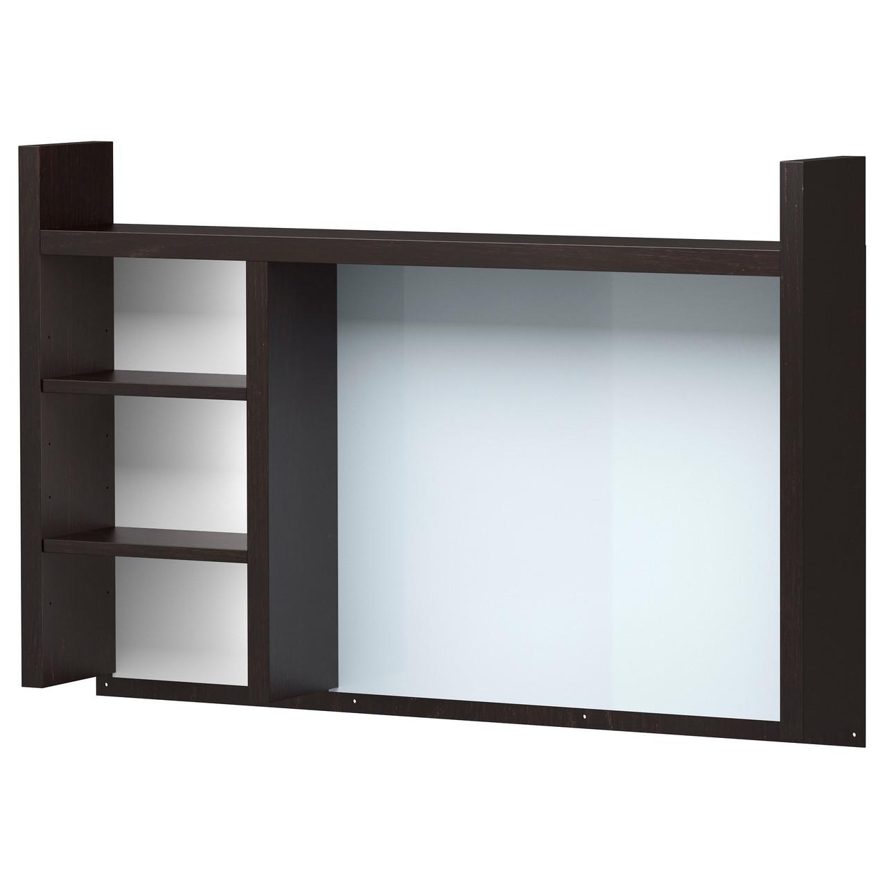 МИККЕ Высокий дополнительный модуль, черно-коричневый, 105x65 см, 50180027, IKEA, ИКЕА, MICKE