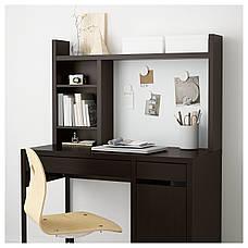 МИККЕ Высокий дополнительный модуль, черно-коричневый, 105x65 см, 50180027, IKEA, ИКЕА, MICKE, фото 3