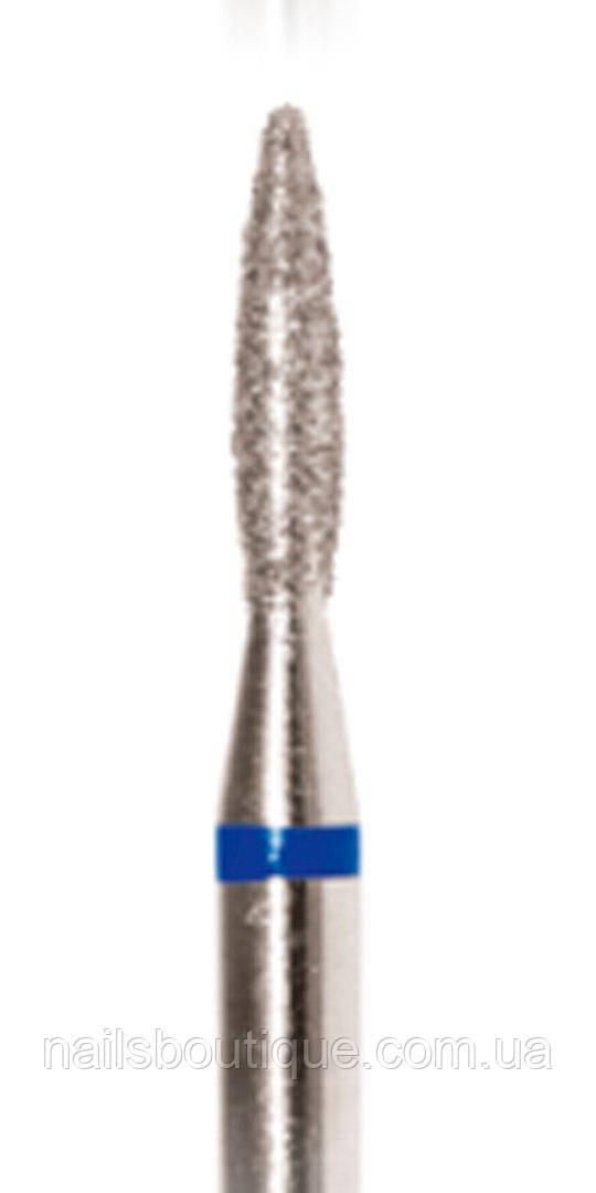 Алмазная фреза пламя, 1,8мм синяя насечка