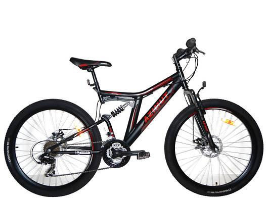 Горный подростковый двухподвесный велосипед Azimut Blackmount 24 GD / 2018