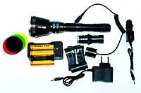 Фонарь тактический Police BL-Q3888 T6 158000W (мега мощный)+Подарок