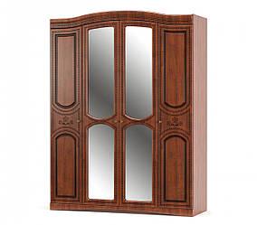 """Шкаф """"Милано"""".  4дв. Мебель Сервис."""