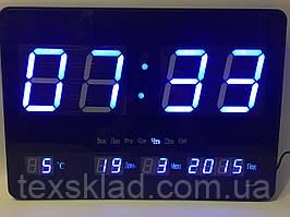 Настінні електронний годинник JH-4632 blue (46х32см/Руське меню)