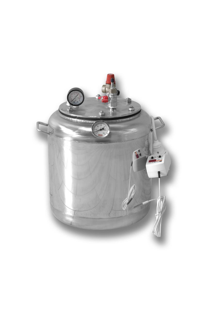 Автоклав электрический из нержавейки А-8 electro (1л-7шт, 0,5л-8шт)